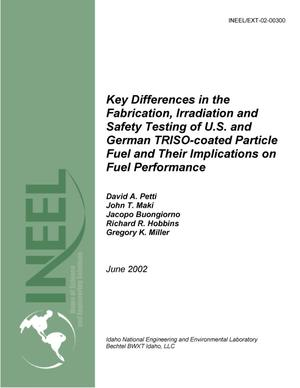 Primary view of object titled 'Key Differences in the Fabrication, Irradiation, and Safety Testing of U.S. and German TRISO-coated Particle Fuel and Their Implications on Fuel Performance'.