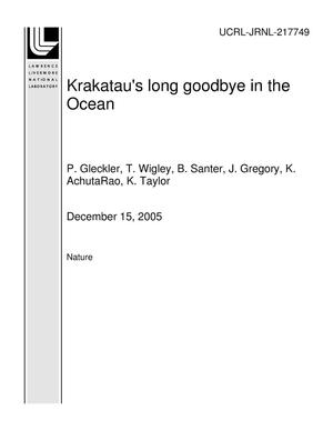 Primary view of object titled 'Krakatau's long goodbye in the Ocean'.