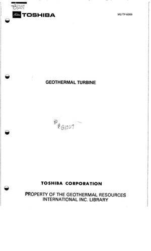 Primary view of object titled 'Geothermal Turbine'.