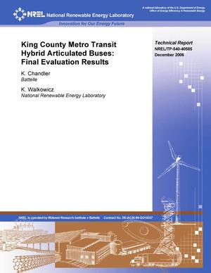 Primary view of object titled 'King County Metro Transit Hybrid Articulated Buses: Final Evaluation Results'.