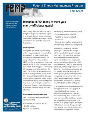 Primary view of object titled 'Invest in UESCs today to meet your energy efficiency goals!'.