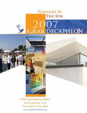 Primary view of object titled '2007 Solar Decathlon: Powered by the Sun (Competition Program)'.