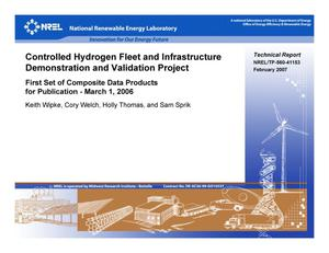 Primary view of object titled 'Controlled Hydrogen Fleet and Infrastructure Demonstration and Validation Project: First Set of Composite Data Products for Publication - March 1, 2006'.