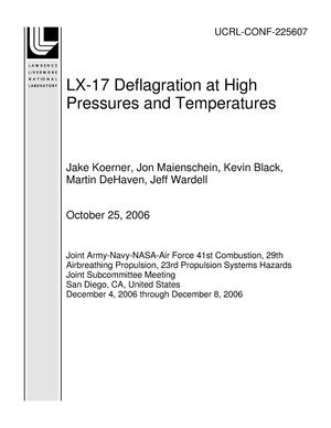Primary view of object titled 'LX-17 Deflagration at High Pressures and Temperatures'.