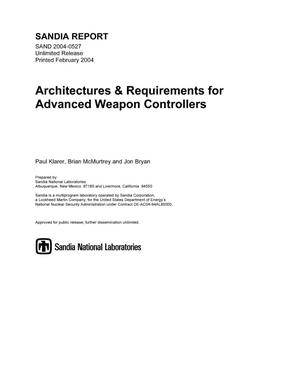 Primary view of object titled 'Architectures & requirements for advanced weapon controllers.'.