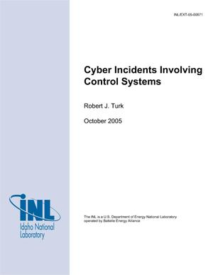 Primary view of object titled 'Cyber Incidents Involving Control Systems'.