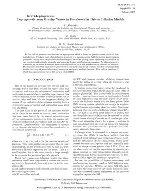 Primary view of object titled 'Gravi-Leptogenesis: Leptogenesis From Gravity Waves in Pseudo-Scalar Driven Inflation Models'.