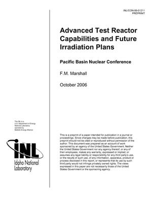 Primary view of object titled 'Advanced Test Reactor Capabilities and Future Irradiation Plans'.