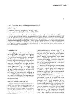 Primary view of object titled 'Long-baseline neutrino physics in the U.S'.