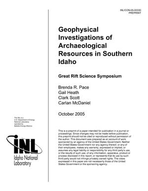 Primary view of object titled 'Geophysical Investigations of Archaeological Resources in Southern Idaho'.