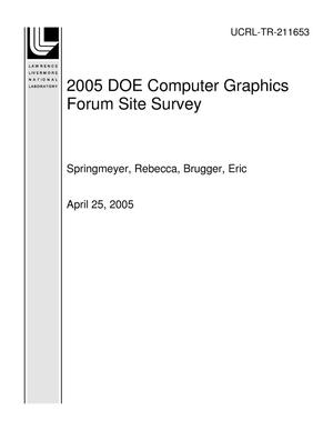 Primary view of object titled '2005 DOE Computer Graphics Forum Site Survey'.