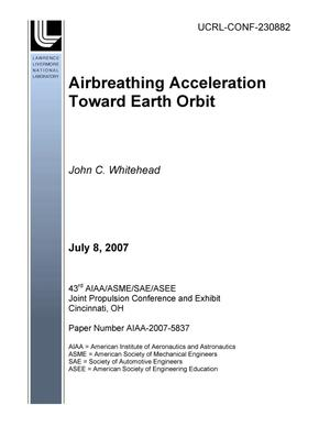 Primary view of object titled 'Airbreathing Acceleration Toward Earth Orbit'.
