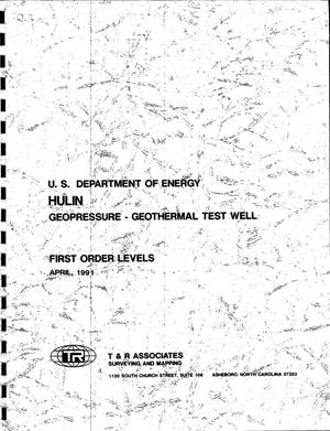 Primary view of object titled 'Hulin Geopressure-geothermal test well: First order levels'.