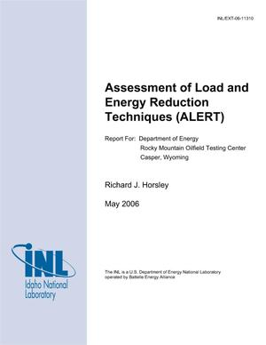 Primary view of object titled 'Assessment of Load and Energy Reduction Techniques (ALERT) Report for Department of Energy Rocky Mountain Oilfield Testing Center Casper Wyoming'.
