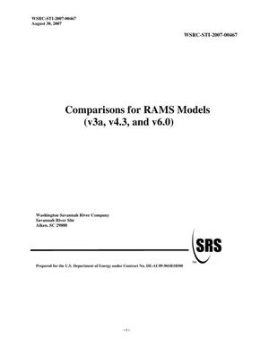 Primary view of object titled 'COMPARISONS FOR RAMS MODELS (V3A, V4.3 AND V6.0)'.