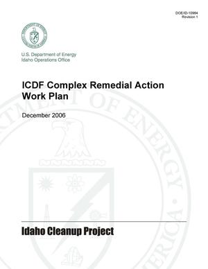 Primary view of object titled 'ICDF Complex Remedial Action Work Plan'.