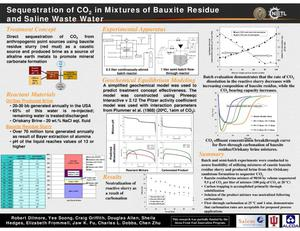 Primary view of object titled 'Sequestration of CO2 in Mixtures of Bauxite and Saline Waste Water'.