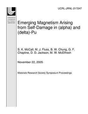 Primary view of object titled 'Emerging Magnetism Arising from Self-Damage in (alpha) and (delta)-Pu'.