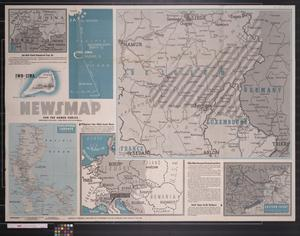 Primary view of object titled 'Newsmap. For the Armed Forces. 278th week of the war, 160th week of U.S. participation'.