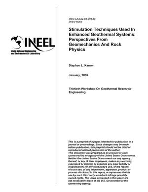 Primary view of object titled 'Stimulation Techniques Used In Enhanced Geothermal Systems: Perspectives From Geomechanics and Rock Physics'.