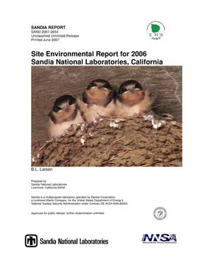 Primary view of object titled 'Site environmental report for 2006 Sandia National Laboratories, California.'.