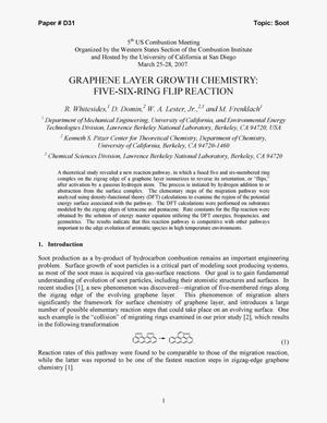 Primary view of object titled 'Graphene Layer Growth Chemistry: Five-Six-Ring Flip Reaction'.