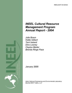 Primary view of object titled 'INEEL Cultural Resource Management Program Annual Report - 2004'.