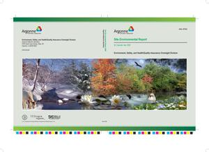 Primary view of object titled 'Argonne National Laboratory site environmental report for calendar year 2006.'.