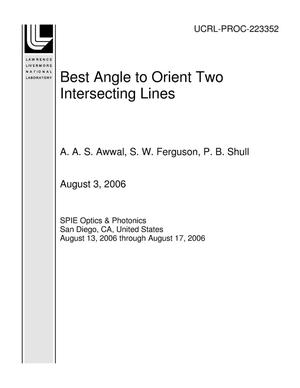 Primary view of object titled 'Best Angle to Orient Two Intersecting Lines'.