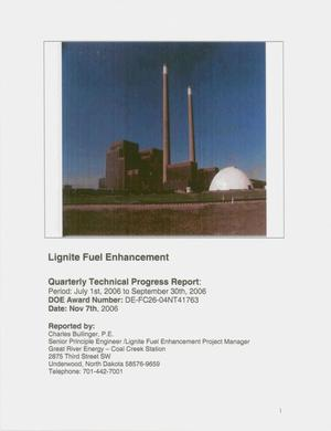 Primary view of object titled 'Lignite Fuel Enhancement'.