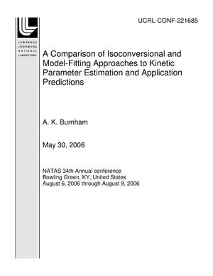 Primary view of object titled 'A Comparison of Isoconversional and Model-Fitting Approaches to Kinetic Parameter Estimation and Application Predictions'.