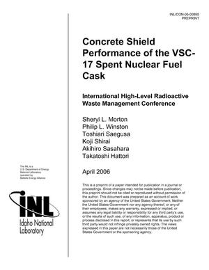 Primary view of object titled 'Concrete Shield Performance of the VSC-17 Spent Nuclear Fuel Cask'.