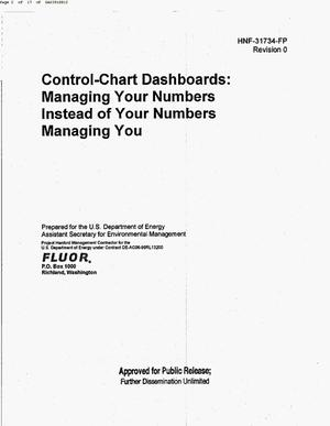 Primary view of object titled 'CONTROL CHART DASHBOARDS MANAGING YOUR NUMBERS INSTEAD OF YOU NUMBER MANAGING YOU'.