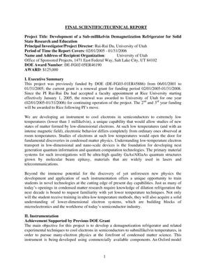 Primary view of object titled 'Development of a Demagnetization Refrigerator for Solid State Research and Education'.