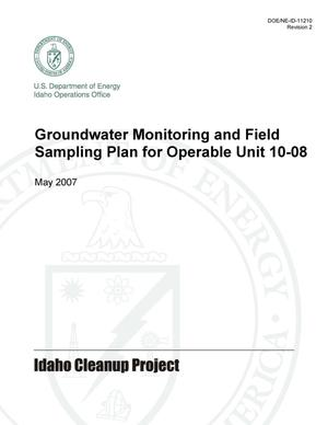 Primary view of object titled 'Groundwater Monitoring and Field Sampling Plan for Operable Unit 10-08'.