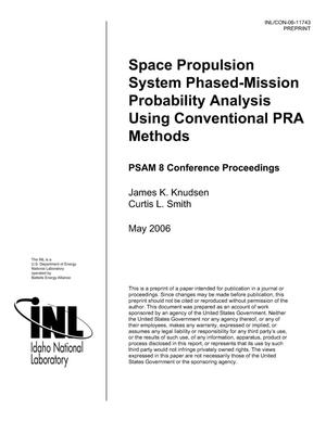 Primary view of object titled 'SPACE PROPULSION SYSTEM PHASED-MISSION PROBABILITY ANALYSIS USING CONVENTIONAL PRA METHODS'.