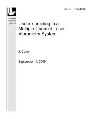 Primary view of object titled 'Under-sampling in a Multiple-Channel Laser Vibrometry System'.