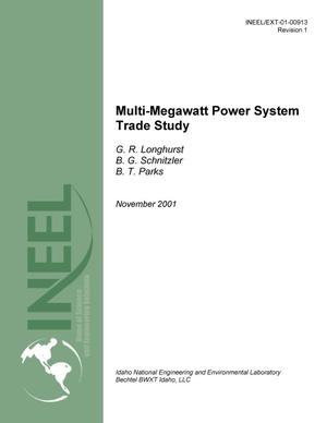 Primary view of object titled 'Multi-Megawatt Power System Trade Study'.