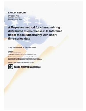 Primary view of object titled 'A Bayesian method for characterizing distributed micro-releases: II. inference under model uncertainty with short time-series data.'.