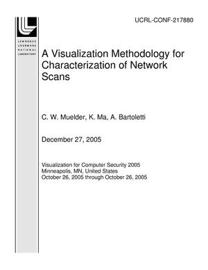 Primary view of object titled 'A Visualization Methodology for Characterization of Network Scans'.