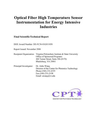 Primary view of object titled 'Optical Fiber High Temperature Sensor Instrumentation for Energy Intensive Industries'.