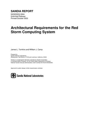 Primary view of object titled 'Architectural requirements for the Red Storm computing system.'.