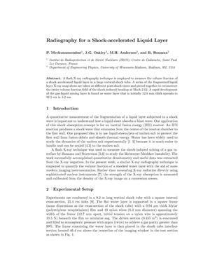 Primary view of object titled 'Radiography for a Shock-accelerated Liquid Layer'.