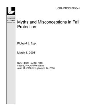 Primary view of object titled 'Myths and Misconceptions in Fall Protection'.