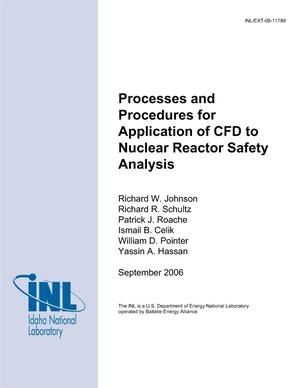 Primary view of object titled 'Processes and Procedures for Application of CFD to Nuclear Reactor Safety Analysis'.