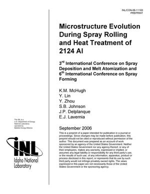 Primary view of object titled 'Microstructure Evolution During Spray Rolling and Heat Treatment of 2124 Al'.