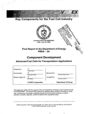 Primary view of object titled 'Component Development - Advanced Fuel Cells for Transportation Applications'.