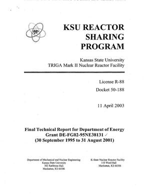Primary view of object titled 'KSU Reactor Sharing Program'.