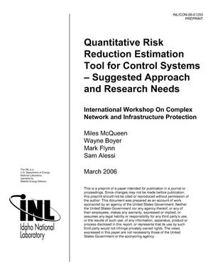 Primary view of object titled 'Quantitative Risk reduction estimation Tool For Control Systems, Suggested Approach and Research Needs'.