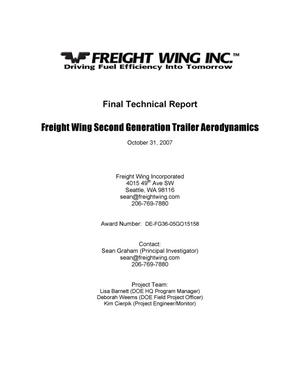 Primary view of object titled 'Freight Wing Trailer Aerodynamics Final Technical Report'.